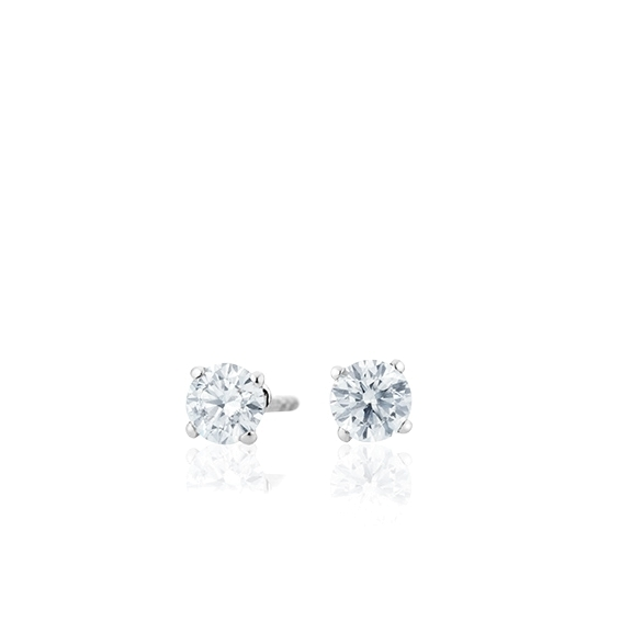 "Ohrstecker ""Diamante in Amore"" 750WG 4-er Krappe, 2 Diamanten Brillant-Schliff 0.40ct TW/vs1"