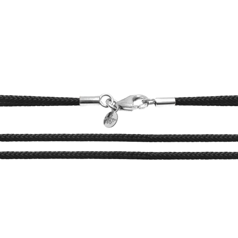 Textilband 750WG schwarz 2-reihig 65.0 cm