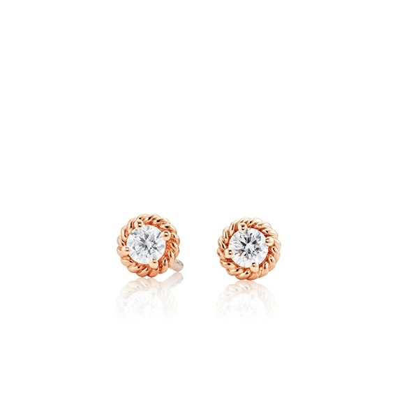 "Ohrstecker ""Amore Mio"" 750RG 2 Diamanten Brillant-Schliff 0.25ct TW/si"