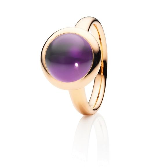"""Ring """"Velluto"""" 750RG, Amethyst medium Cabochon Ø 11.0 mm ca. 3,9ct"""