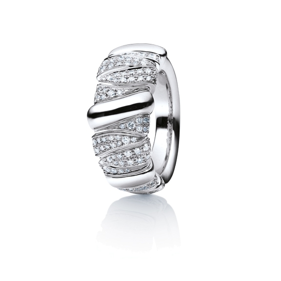 "Ring ""Seraphina"" 750WG, 216 Diamanten Brillant-Schliff 1.00ct TW/vs"