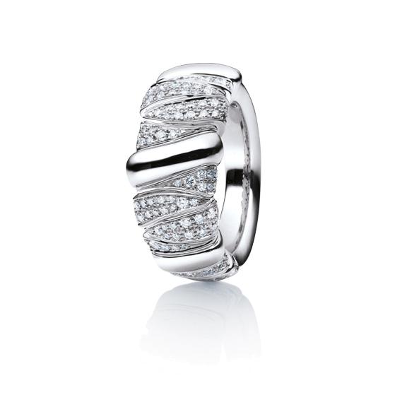 """Ring """"Seraphina"""" 750WG, 216 Diamanten Brillant-Schliff 1.00ct TW/vs"""