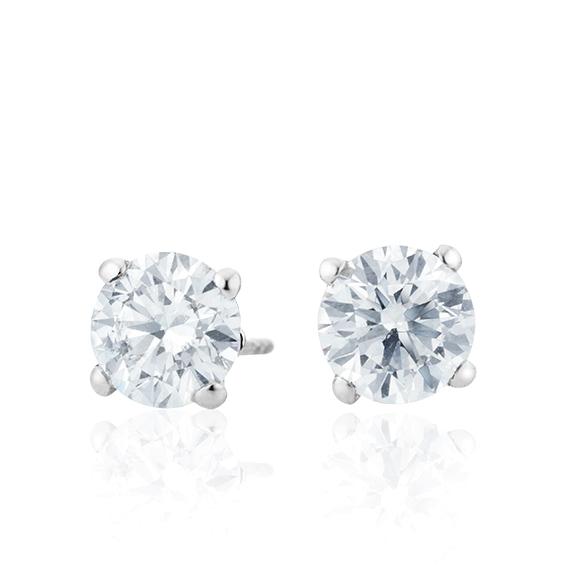 "Ohrstecker ""Diamante in Amore"" 750WG 4-er Krappe, 2 Diamanten Brillant-Schliff á 0.75ct TW/vs1 GIA Zertifikat"