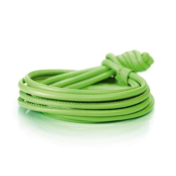Armband Kalbsleder grün 4-reihig, Ø 3.0 mm, 42.0 cm
