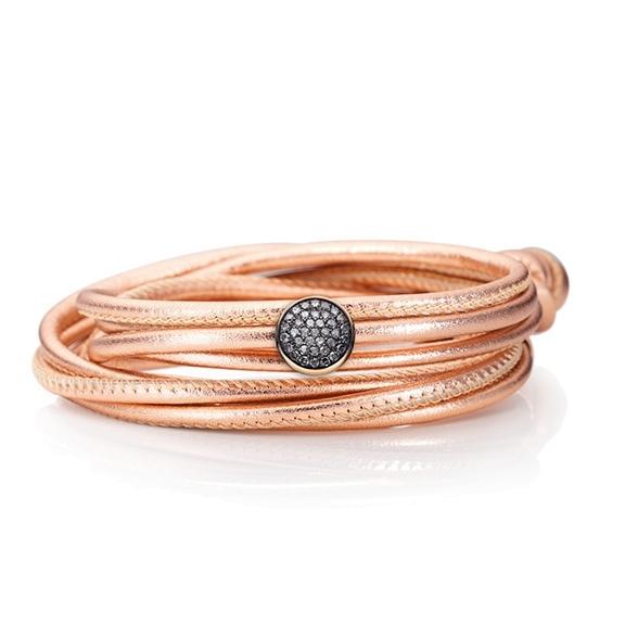 """Schmuckelement """"Dolcini"""" 750RG, 37 Diamanten Brillant-Schliff 0.79ct grau"""