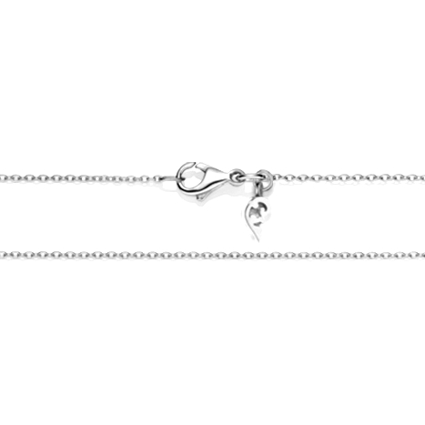 Collierkette Anker rund 750WG 1-reihig mit Markenzeichen, Ø 1.0 mm, Länge 45.0 cm, Zwischenöse bei 42.0 cm