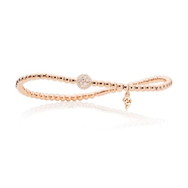 "Armband ""Flessibile"" 750RG, 31 Diamanten Brillant-Schliff 0.31ct TW/si, Innenumfang 17.0 cm"