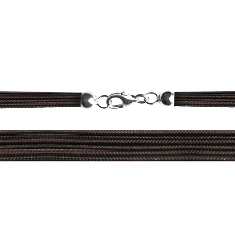Textilband 750WG dunkelbraun 8-reihig 45.0 cm
