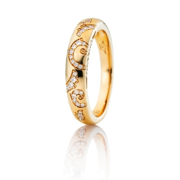 "Ring ""Sérail"" 750GG, 36 Diamanten Brillant-Schliff 0.14ct TW/vs"