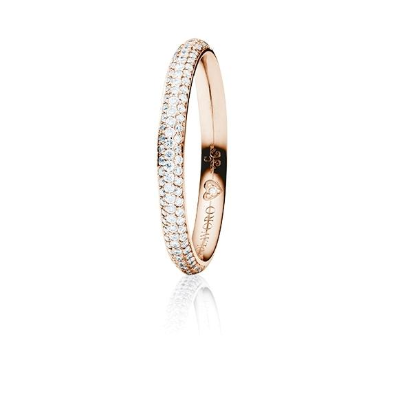 """Ring """"Diamante in Amore"""" 750RG Pavé, 94 Diamanten Brillant-Schliff 0.35ct TW/vs1, 1 Diamant Brillant-Schliff 0.005ct TW/vs1"""