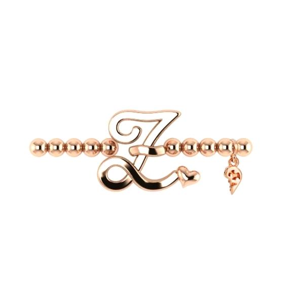 "Armband ""Poesia"" 750RG, Buchstabe ""Z"", Innenumfang 17.0 cm"