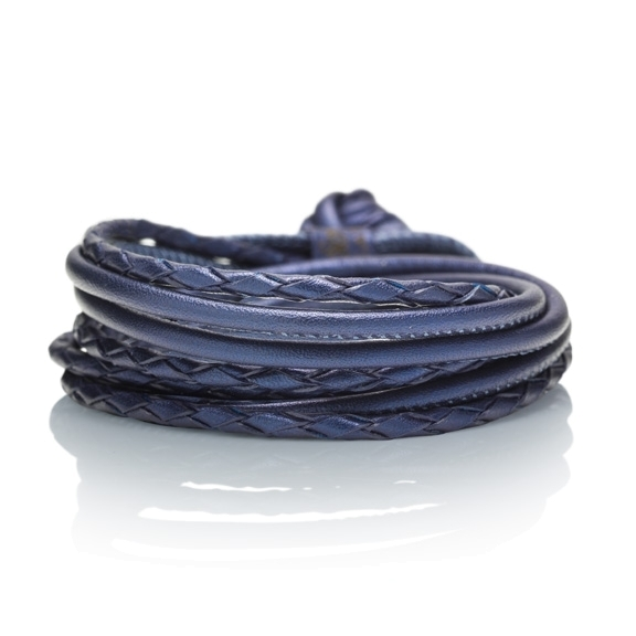 Armband Kalbsleder royal 4-reihig, Ø 3.0 mm, 42.0 cm
