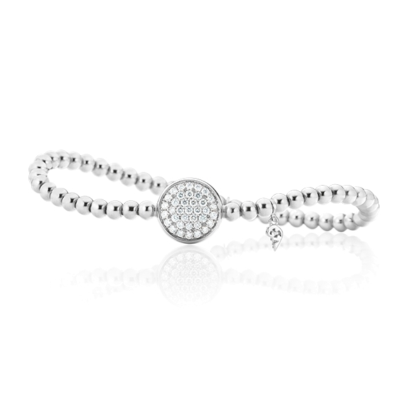 "Armband ""Dolcini"" 750WG, 37 Diamanten Brillant-Schliff 0.59ct TW/si, Innenumfang 17.0 cm"
