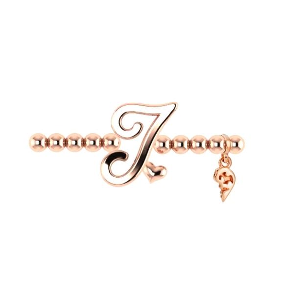 "Armband ""Poesia"" 750RG, Buchstabe ""I"", Innenumfang 17.0 cm"