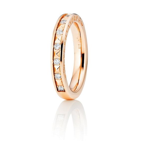 """Ring """"Manhattan"""" 750RG, 10 Diamanten Brillant-Schliff 0.20ct TW/vs1"""