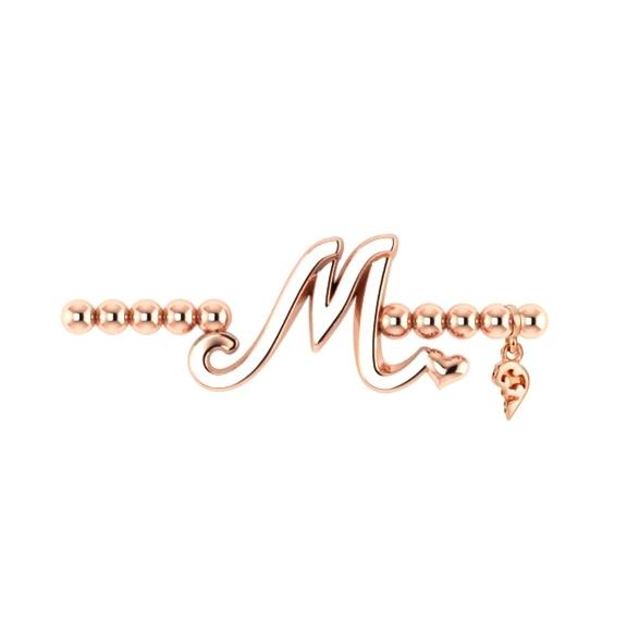"Armband ""Poesia"" 750RG, Buchstabe ""M"", Innenumfang 17.0 cm"