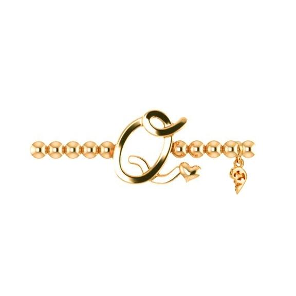 "Armband ""Poesia"" 750GG, Buchstabe ""Q"", Innenumfang 17.0 cm"